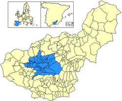 Location in the province o Granada.