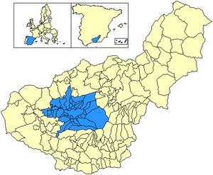 Vega de Granada - Image: Location Vega de Granada