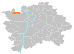 Location of Nebušice in Prague
