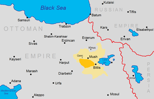 1894 Sasun rebellion - Location of the 1894 and 1904 Sasun uprisings