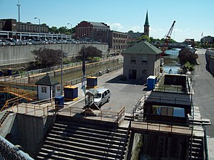 Lockport Industrial District - Canal Locks at Lockport, New York, June 2009