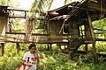 Lola in front of her old farmhouse at Danao, Cebu, Philippines 2017.jpg