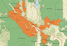 An overview map of Lolo National Forest with ranger districts and surrounding forests labelled