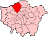 Location of the London Borough of Barnet in Greater London