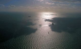 wind farm in the outer Thames Estuary in the United Kingdom