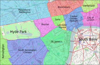 London Map Districts.Talk London Districts Travel Guide At Wikivoyage