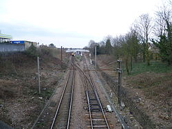 Looking towards Bowes Park station.JPG