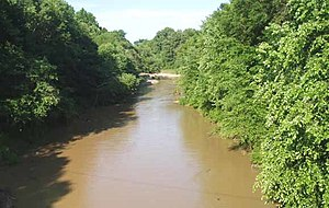 Loosahatchie River - The Loosahatchie River at Arlington, Tennessee