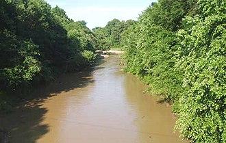 Loosahatchie River - The Loosahatchie River at Arlington, Tennessee