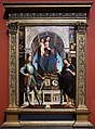 Lorenzo costa e gianfrancesco maineri, madonna col bambino e santi, 1498-1500 ca. 01.jpg