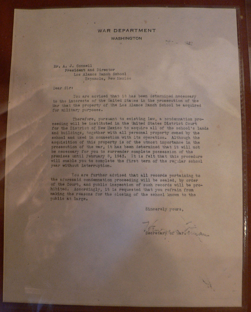 FileLos Alamos Ranch School Seizure Letterjpg FileLos