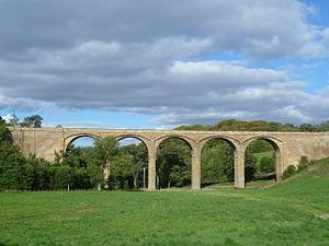 Pathhead, Midlothian - Thomas Telford's Lothian Bridge (1831) over the River Tyne