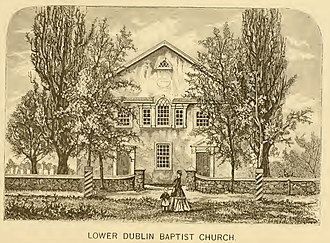 Pennepack Baptist Church - As drawn c. 1869