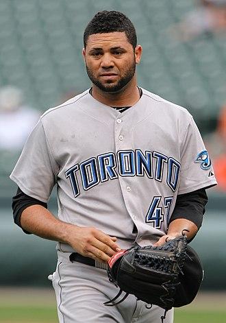 Luis Pérez (baseball) - Pérez with the Toronto Blue Jays in 2011