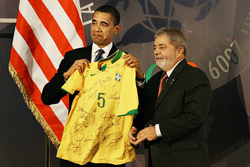 Is Lula being doubly sneaky with the subtext? Felipe Melo, who currently wears Brazil's no.5 shirt, scored the opening goal in a 3-0 victory over the US at the 2009 Confederations Cup. He's also a defensive midfielder.