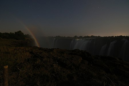 Lunar rainbow, Victoria Falls