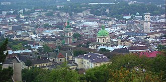Lviv High Castle - Image: Lwow panorama m