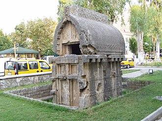 Telmessos - Lycian ogival rock tomb in Telmessos/ Fethiye (4th century BCE).
