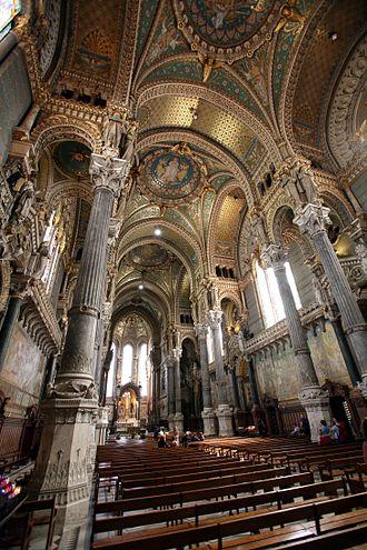 Basilica of Notre-Dame de Fourvière - The basilica interior