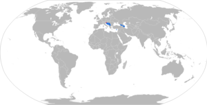 M-63 Plamen - Map with M-63 operators in blue and former operators in red