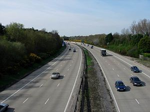 M27 motorway - M27 Between junctions 5 and 7 (there is no junction 6)