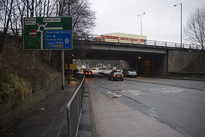 Worsley - The M60 motorway bisects Worsley