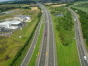 M9 motorway (Scotland) - Image: M9 Motorway at Newbridge