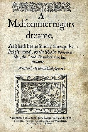 Η πρώτη σελίδα με τον τίτλο του έργου από το πρώτο Quarto (1600)