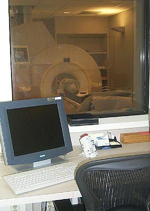 MRI machine used at the Krasnow Institute for Advanced Study MRI 2006 photo2.JPG