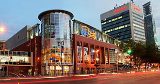 Bell MTS Place - Bell MTS Place (pictured with former MTS Centre facade)
