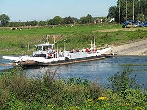 Berg aan de Maas - Ferry between Meeswijk and Berg.