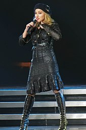 Madonna performing.