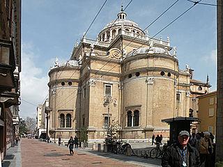 Sanctuary of Santa Maria della Steccata church in Parma, Italy