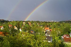 Mälarhöjden - Bird's-eye view: central part of the suburb
