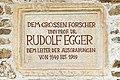 Magdalensberg Archaeologischer Park Gedenktafel Rudolf Egger 02062016 2336.jpg