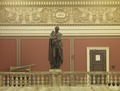 Main Reading Room. Portrait statue of Gibbon along the balustrade. Library of Congress Thomas Jefferson Building, Washington, D.C. LCCN2011648110.tif