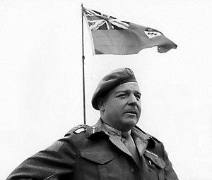 Rod Keller - Major General R.F.L. Keller addressing Canadian troops in Normandy, August 2, 1944.