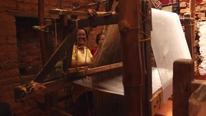 File:Making handwoven DHAKA fabric in Nepal • ढाका.webm