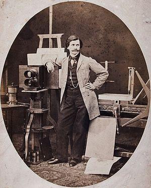 Maksymilian Fajans - Self-portrait in his workshop (c.1850)
