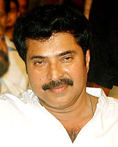 Photograph focusing on the face of Mammootty