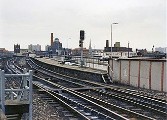 Manchester Exchange railway station - Remains of Manchester Exchange railway station in 1989