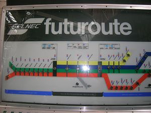 Picc-Vic tunnel - A prototype SELNEC interactive display board, now on display at the Museum of Transport, Greater Manchester