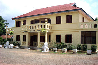 The official  Palace of the Asantehene in Ghana