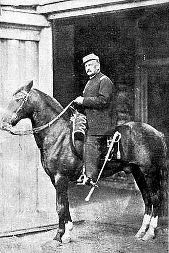 Manuel Baquedano - Manuel Baquedano on horseback (1891)