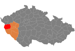 District location in the Plzeň Region within the Czech Republic