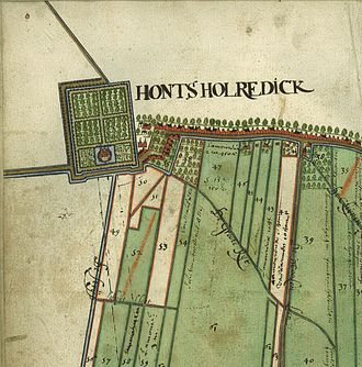 Honselersdijk - Map Honselersdijk 1620