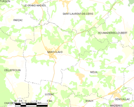Mapa obce Saint-Claud