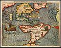 Map of America by Sebastian Munster. 1561