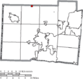 Map of Butler County Ohio Highlighting Somerville Village.png