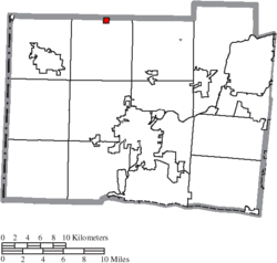 Location of Somerville in Butler County